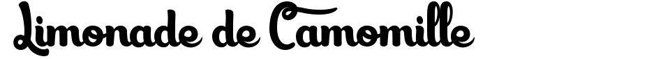 字体预览:Limonade de Camomille