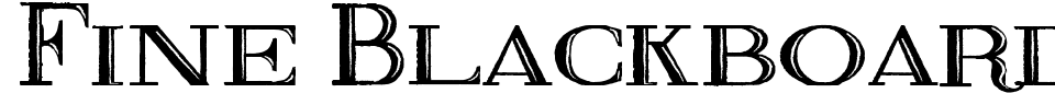 Fine Blackboard Font Preview