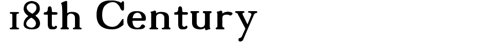 Vista previa - Fuente 18th Century