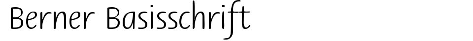 Berner Basisschrift Font Preview