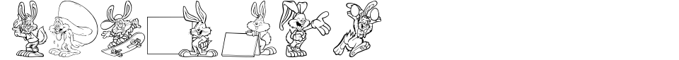 Vorschau der Schriftart - Easter Hoppy