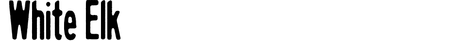 White Elk Font Generator Preview