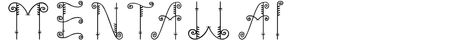 Vorschau der Schriftart - Mentawai