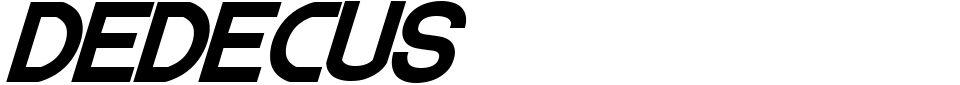 字体预览:Dedecus