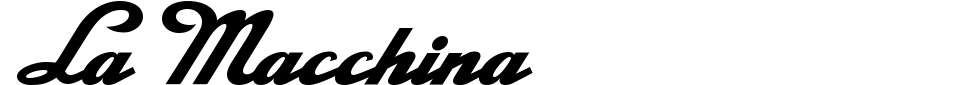 La Macchina Font Preview
