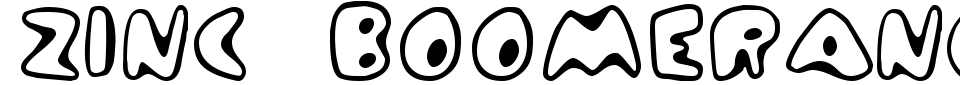Zinc Boomerang Font Preview