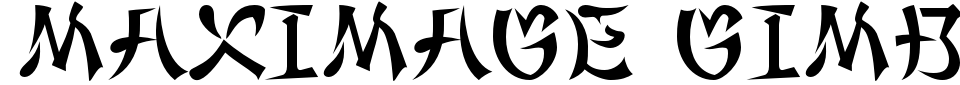 Maximage Gimbadong Font Preview