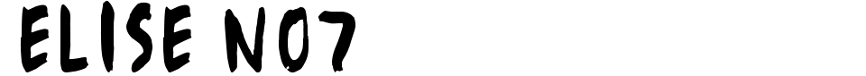 Vorschau der Schriftart - Elise No7