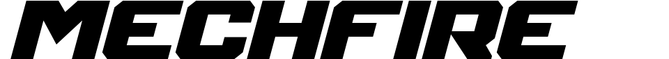 Mechfire Font Preview