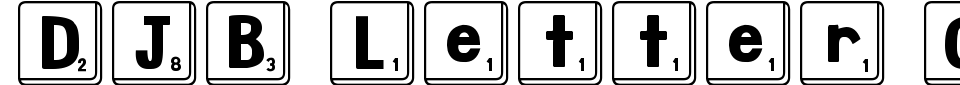 DJB Letter Game Tiles Font Preview
