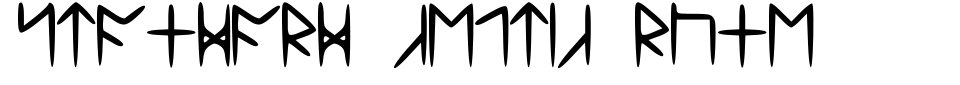Standard Celtic Rune Font Generator Preview