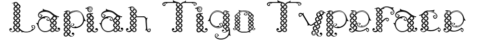 Lapiah Tigo Typeface Font Generator Preview