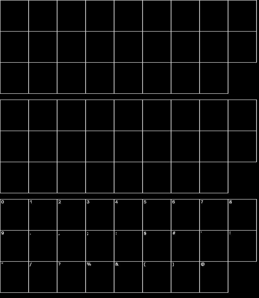 Caratteri del Font - Koku Min