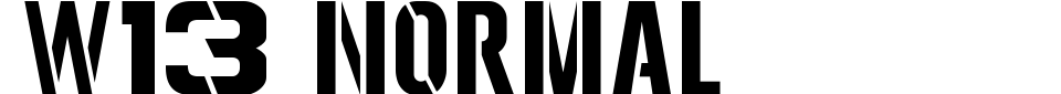 Visualização - Fonte W13 Normal