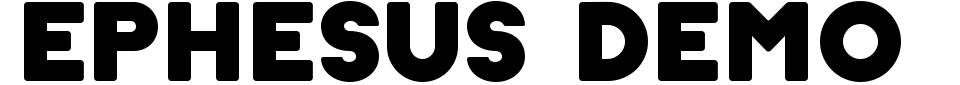 Ephesus Demo Font Generator Preview