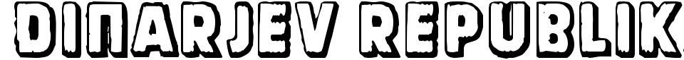 Vorschau der Schriftart - Dinarjev Republika