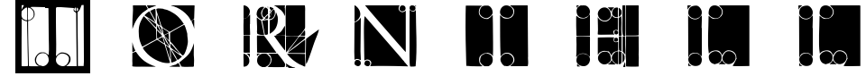Visualização - Fonte Torniello Initials