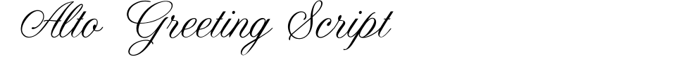 Alto Greeting Script Font Preview