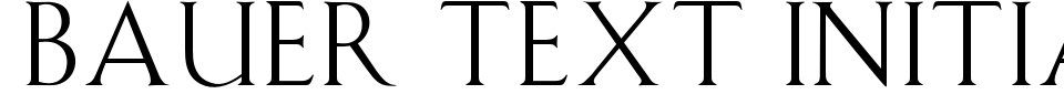 Bauer Text Initials Font Preview