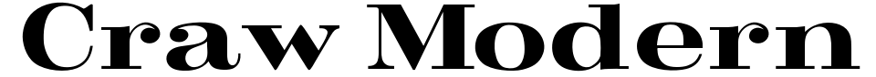 Anteprima - Font Craw Modern