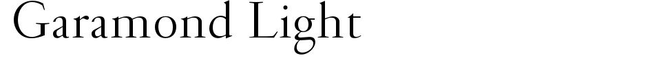 字体预览:Garamond Light