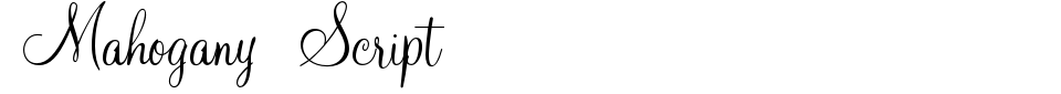 Mahogany Script Font Preview
