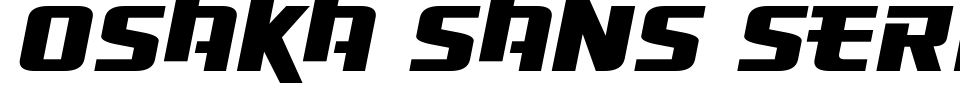 Osaka Sans Serif Font Generator Preview
