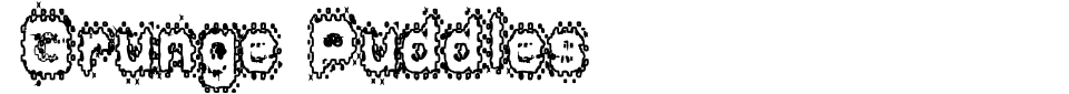 Vista previa - Fuente Grunge Puddles