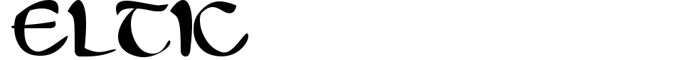 Eltic Font Generator Preview