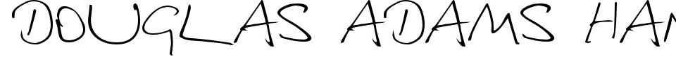 Vista previa - Fuente Douglas Adams Hand