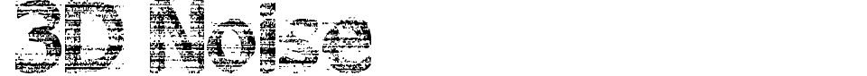 Vista previa - Fuente 3D Noise