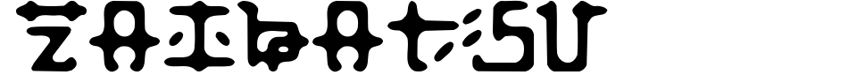 Zaibatsu Font Preview