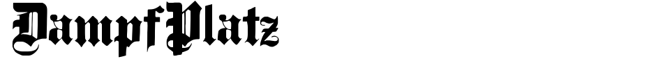 字体预览:DampfPlatz