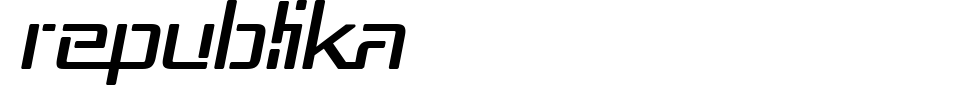 Republika Font Preview