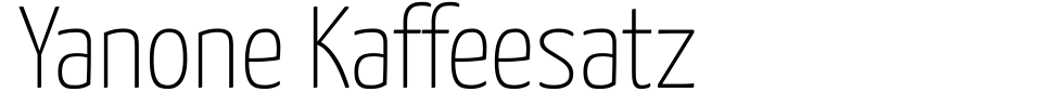 Yanone Kaffeesatz Font Preview