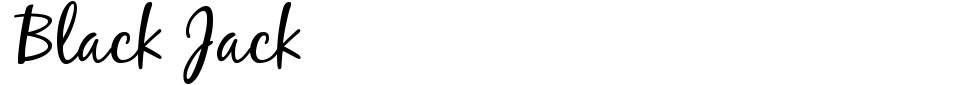 Black Jack Font Preview