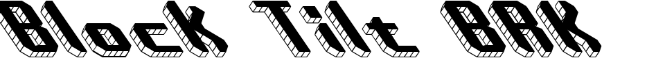 Block Tilt BRK Font Generator Preview