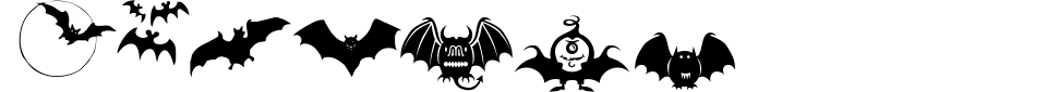 フォントプレビュー:Bats Symbols