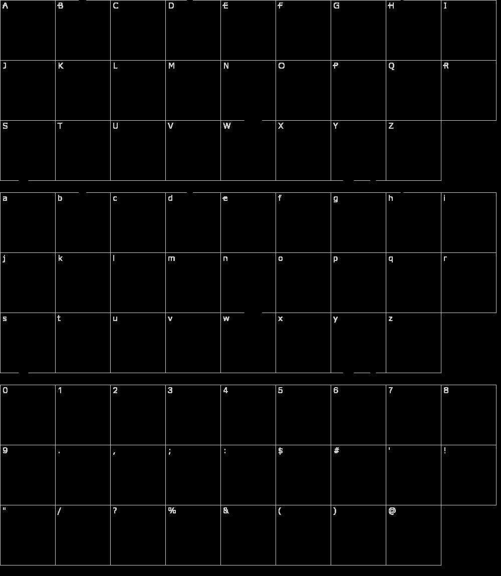 Caratteri del Font - Da Bomb