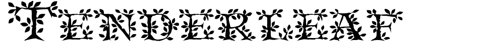 Anteprima - Font Tenderleaf