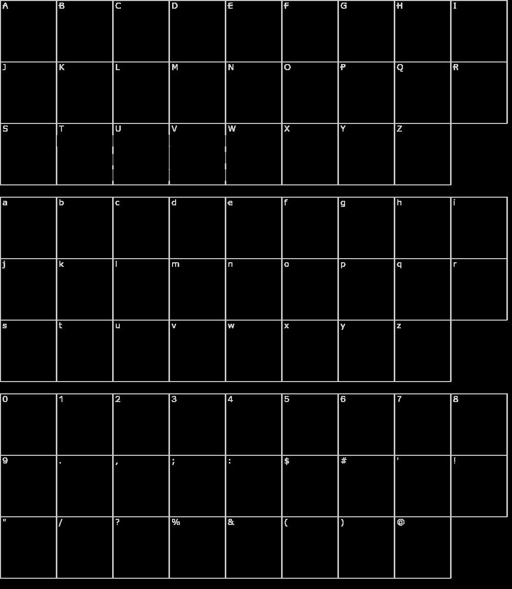 Characters: Tetris Blocks Font
