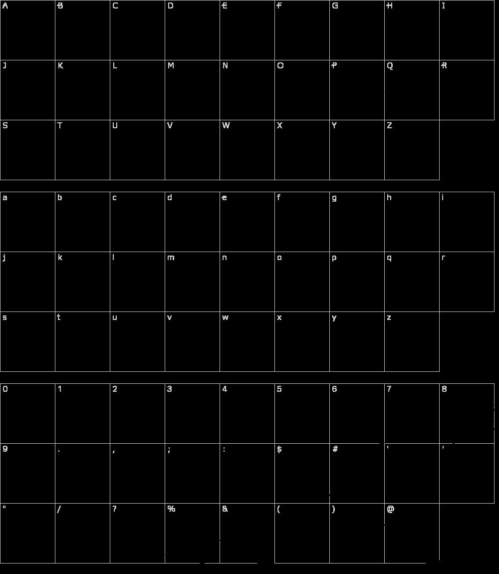 Caratteri del Font - Narnia BLL