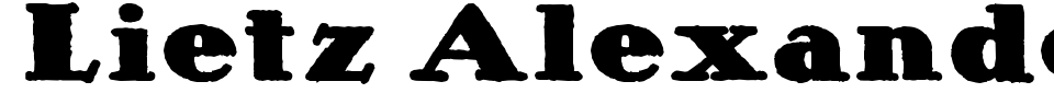 Lietz Alexander Nero Font Preview