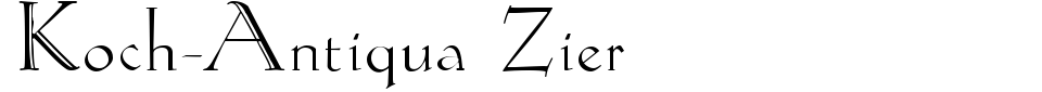 Koch-Antiqua Zier Font Preview