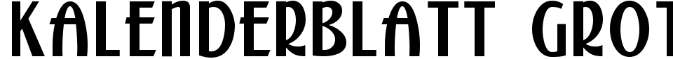 Visualização - Fonte Kalenderblatt Grotesk