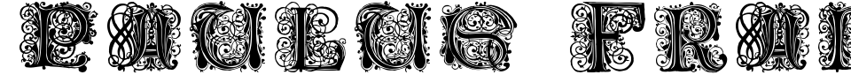 Vorschau der Schriftart - Paulus Franck Initialen