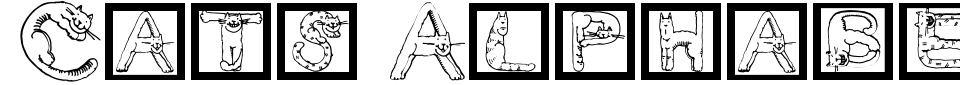 Anteprima - Font Cats Alphabet