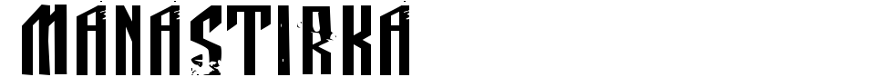Manastirka Font Preview