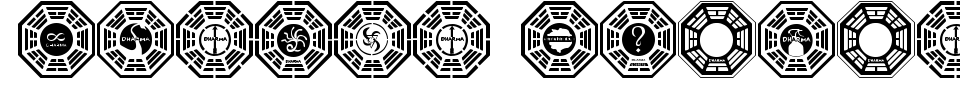Visualização - Fonte Dharma Initiative Logos