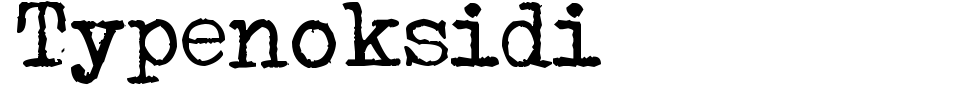 Typenoksidi Font Preview